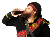 scotch warrior drinking wine poster
