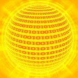 sphere of binary code poster