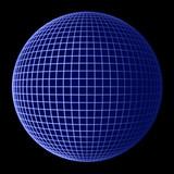 earth globe blue frame poster