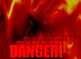 fire danger abstract poster