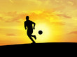 soccer silhouette (sun sky)