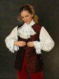 woman in old french clothes poster