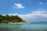 view of an island beach in croatia poster