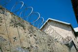 razor wire prison wall poster