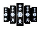 speakers - black poster