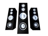 speakers - black 2 poster