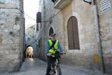 jerusalem old city cyclist poster