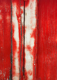 grunge background: cracked red door poster