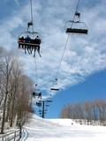 downhill ski chairlift poster