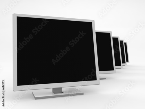 poster of five monitors