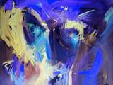Fototapete Künstlerbedarf - Blau - Bewegung