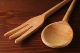 wooden fork and spoon poster