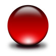 3d glass sphere red