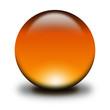 3d glass sphere orange