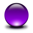3d glass sphere purple