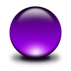 3d glass sphere purple