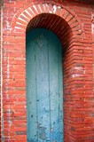 arched doorway made from bricks poster