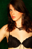 brunette model pose poster