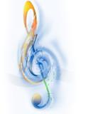 Fototapety music - treble clef - digital art