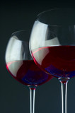 pair of wine glasses poster