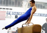 gymnast competing on pommel poster