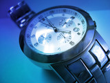 wristwatch time blue poster