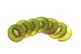 sliced kiwi poster