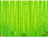 tropical bamboo background poster