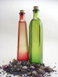 red & green bottles