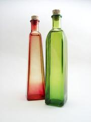 red & green bottles