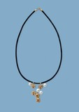 necklace with pearls poster