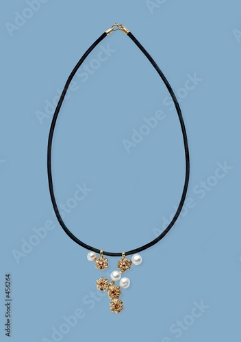 poster of necklace with pearls