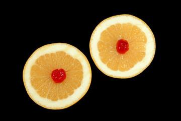 grapefruits and cherries