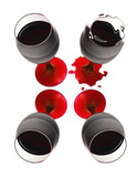 four glass of wine poster