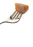 fork with orange poster