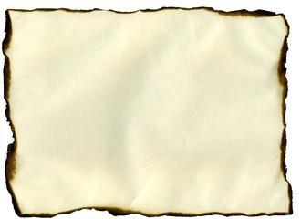 sheet with burned edges