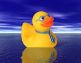 business man duck poster