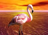 Fototapete Eins - Sonnenuntergänge - Vögel