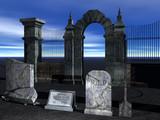 rendered graveyard poster