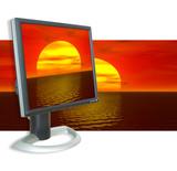monitor sunset poster
