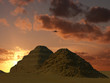 Leinwanddruck Bild sakkara pyramids