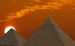 Leinwanddruck Bild sunrise pyramids