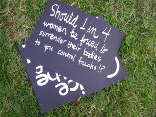 pro-choice rally sign