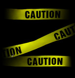 caution tape poster