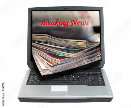 breaking news-clipping path