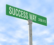 success themed street sign