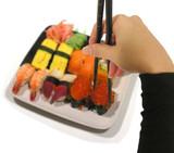 eating sushi poster