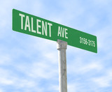 talent themed street sign poster