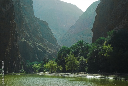 Leinwanddruck Bild wadi tiwi canyon - oman