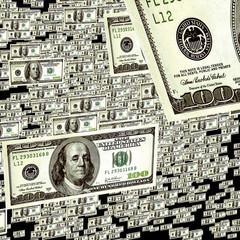 background dollar rain